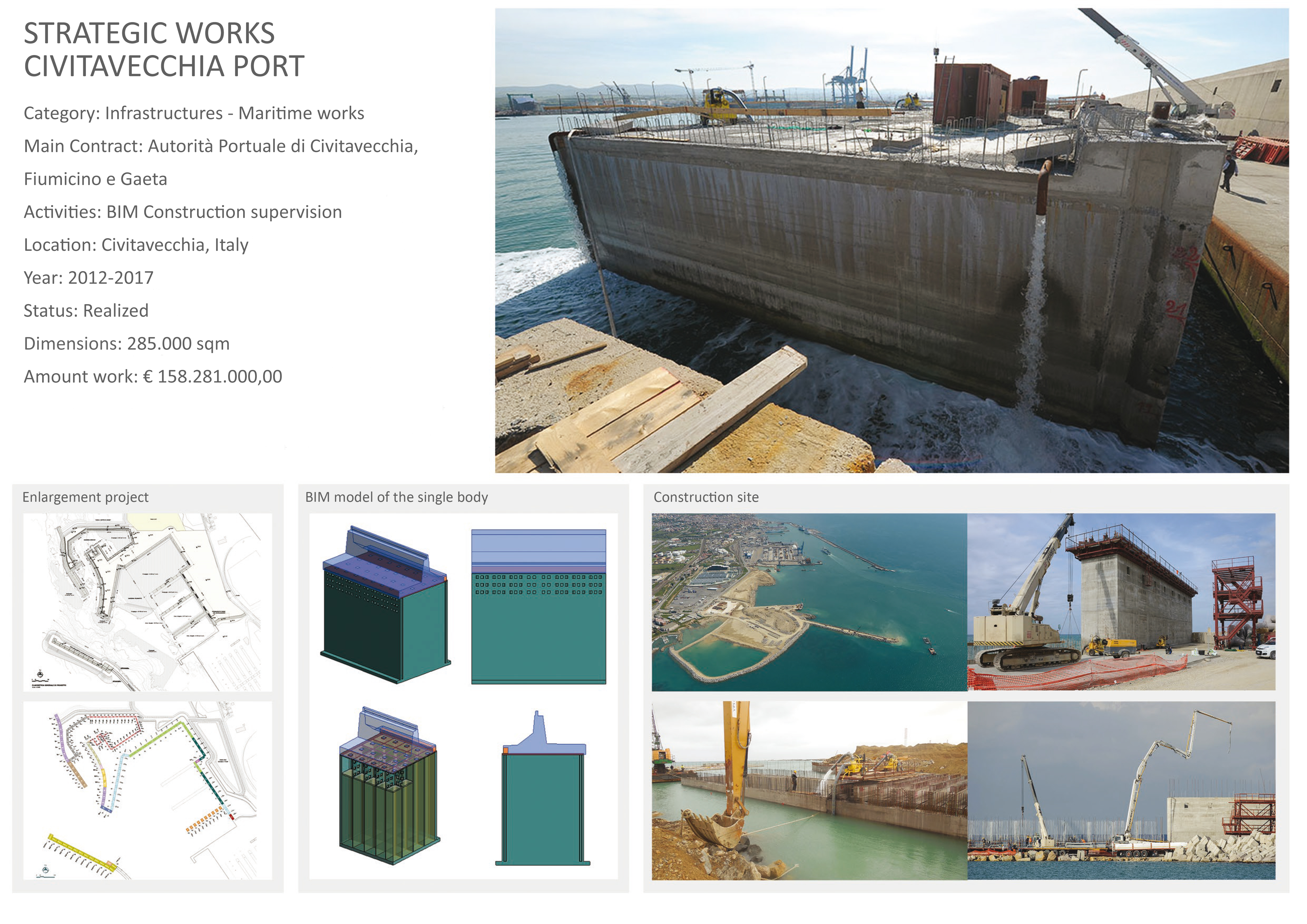 Porto di Civitavecchia - Opere strategiche