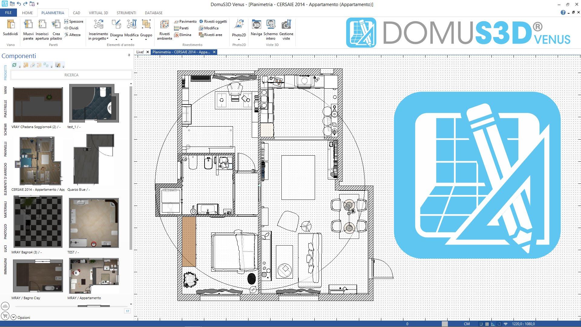 Software Arredamento Interni Gratis domus3d - bim portale