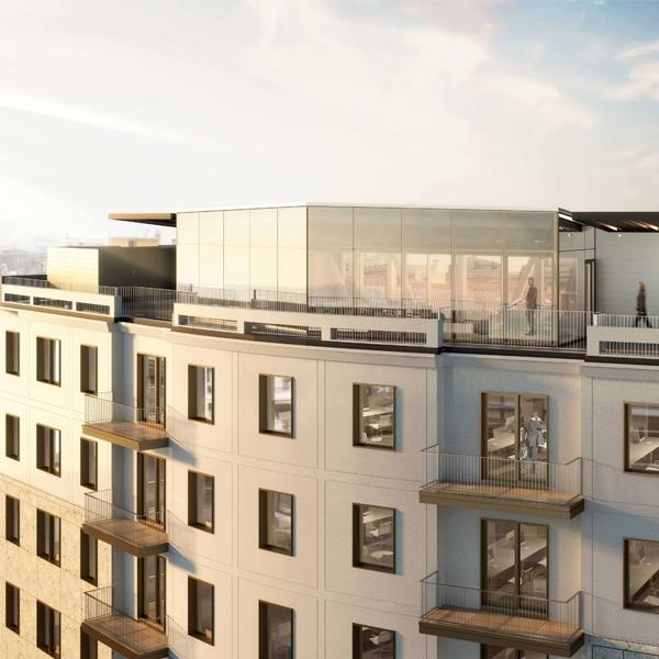 Riqualificazione architettonica dell'edificio per uffici Fatebenefratelli 14