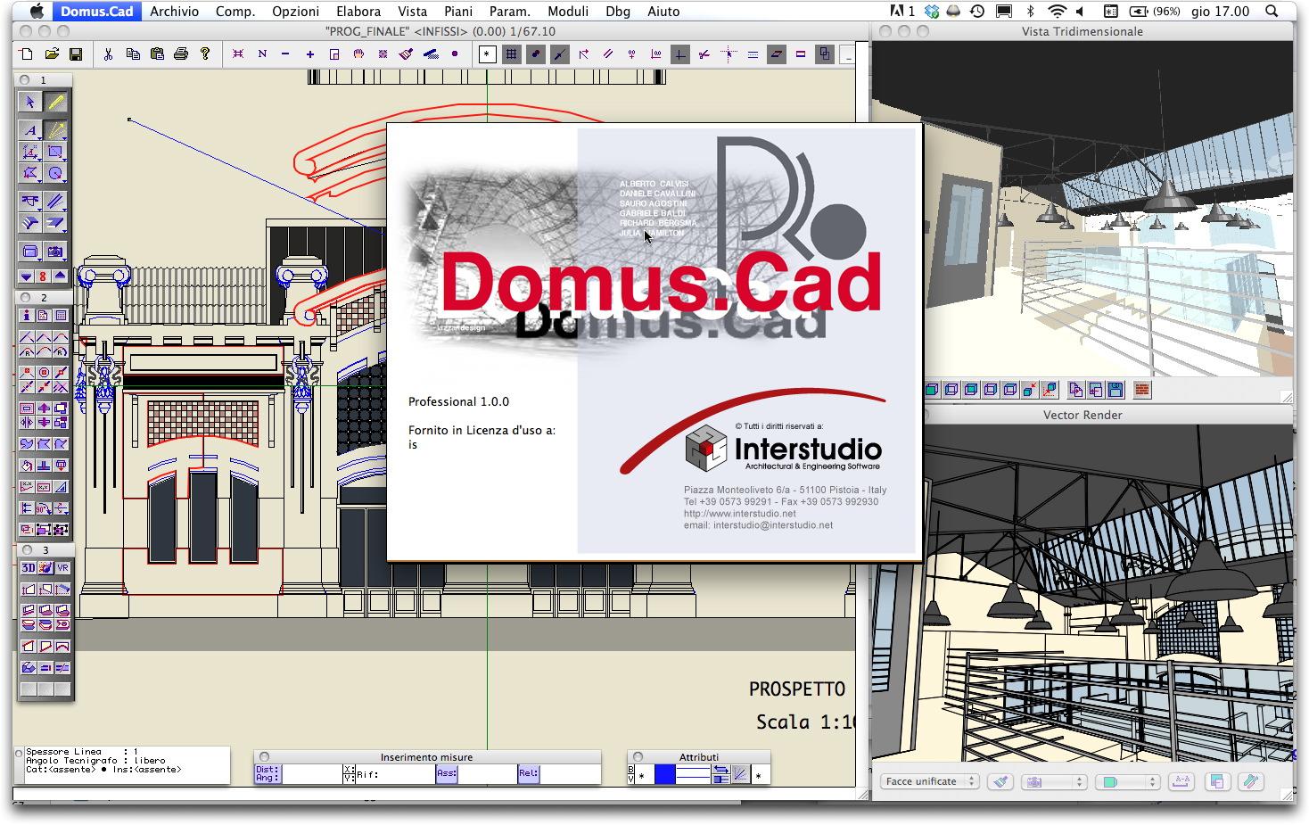 Domus cad pro3 bim portale for Progettazione 3d gratis