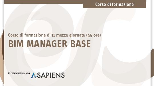 Corso BIM Manager Base in aula certificato A-Sapiens