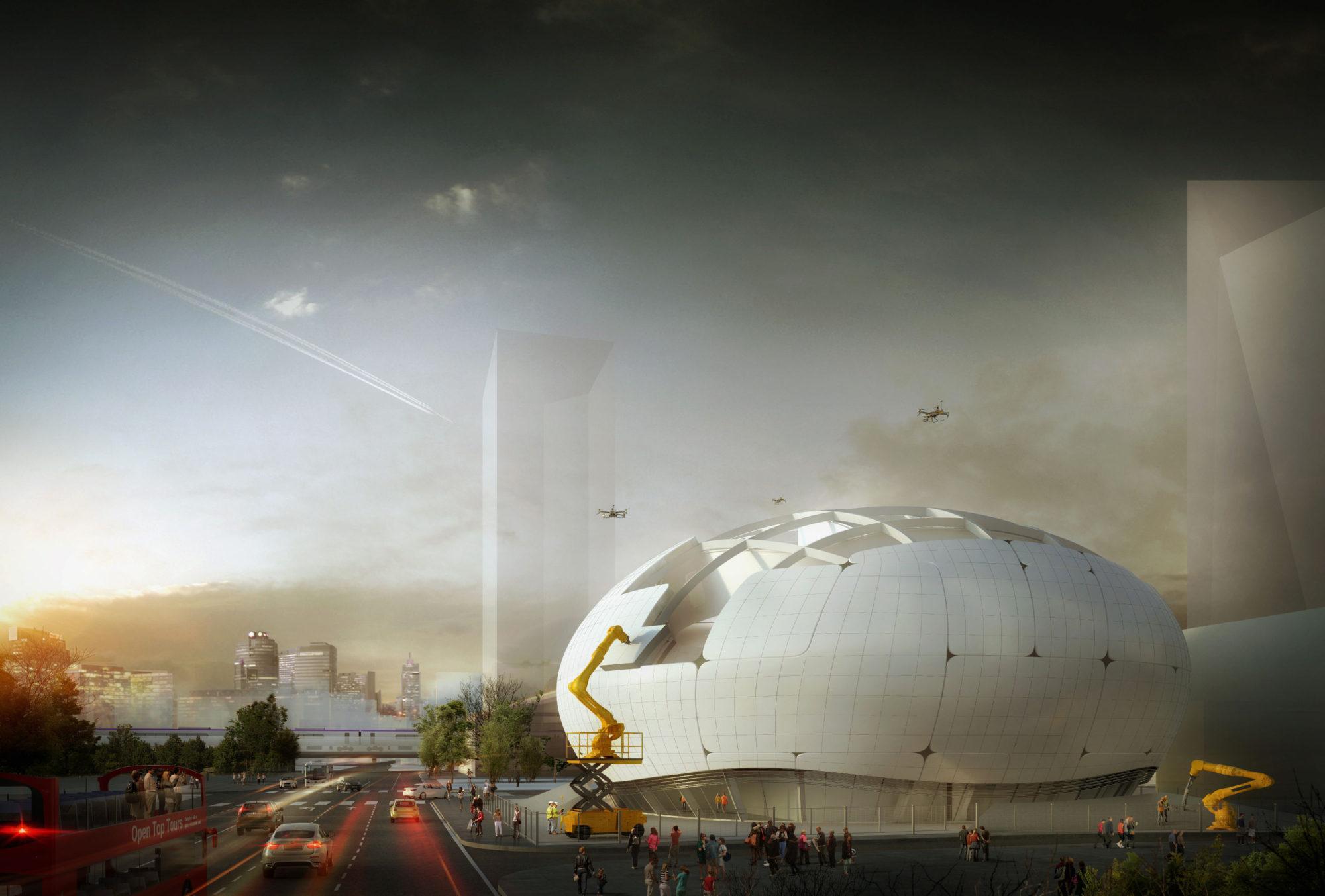 A Seul il nuovo museo lo costruiscono robot e droni