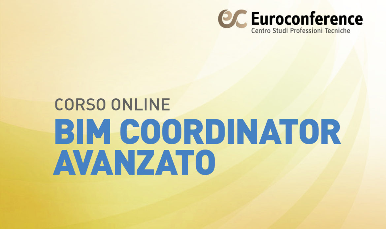 Corso BIM Coordinator Avanzato on-line