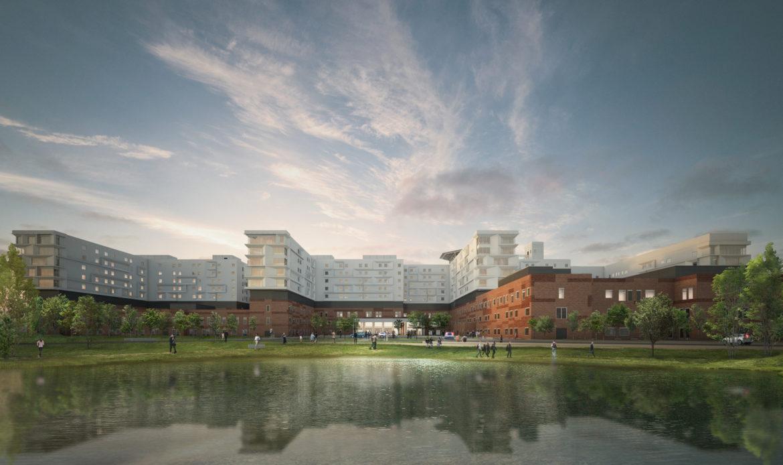 Parte il cantiere del nuovo ospedale di Zealand in Danimarca firmato Politecnica e EKJ