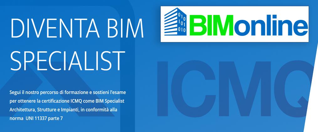 Percorso formativo BIM Specialist con BIMonline