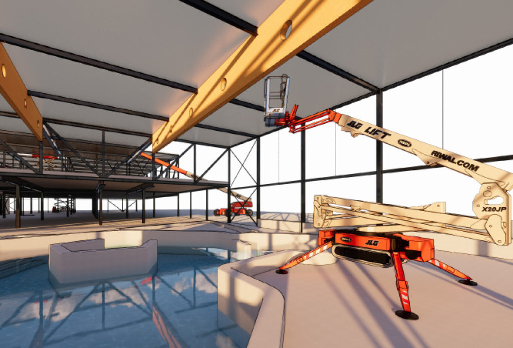Da Riwal piattaforme aeree BIM per progettare il cantiere