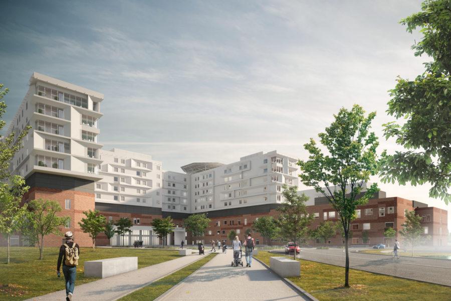 Il nuovo Zealand University Hospital a Køge
