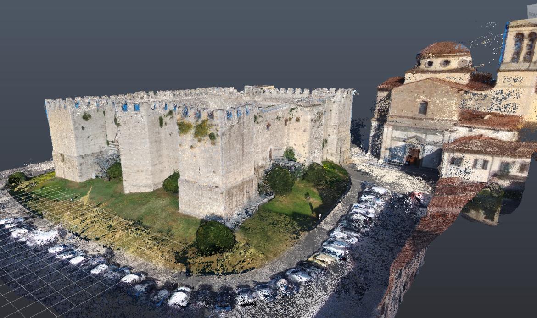 Lo studio in BIM del Castello dell'Imperatore di Prato