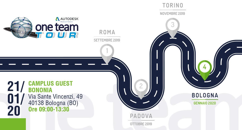 One Team Tour a Bologna