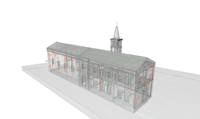 Ex Chiesa di San Giovanni di Argenta, il BIM nel progetto di conservazione