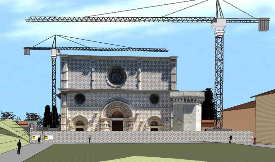 Restauro e ricostruzione della Basilica di Santa Maria di Collemaggio a L'Aquila