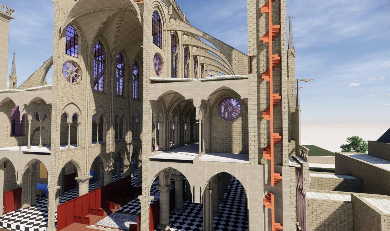 Modello BIM per Notre Dame un anno dopo l'incendio