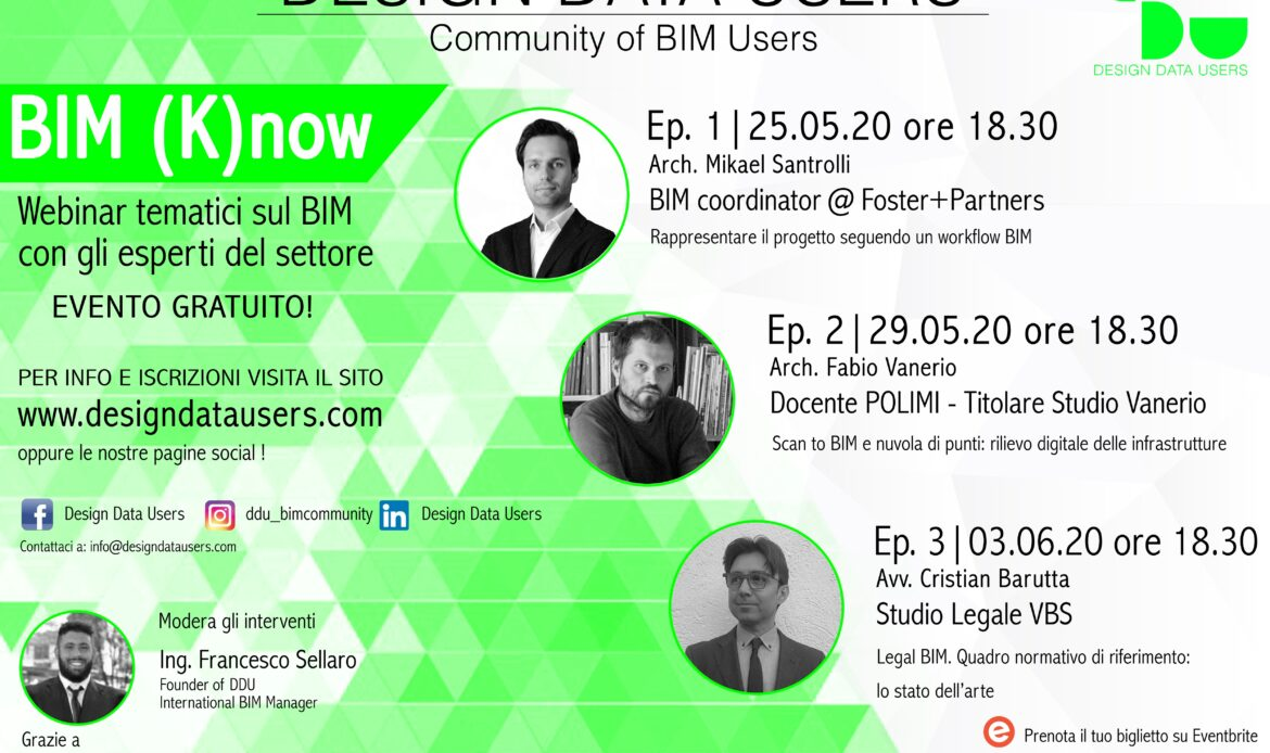 BIM (k)NOW: i webinar di Design Data Users