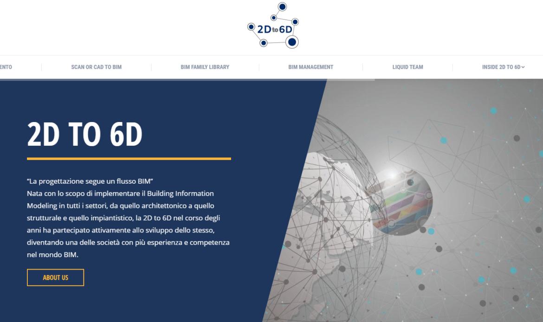 2D to 6D lancia il nuovo sito web