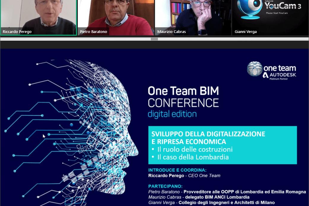 """Pietro Baratono alla One Team BIM Conference: """"Bisogna essere pronti a cambiare"""""""