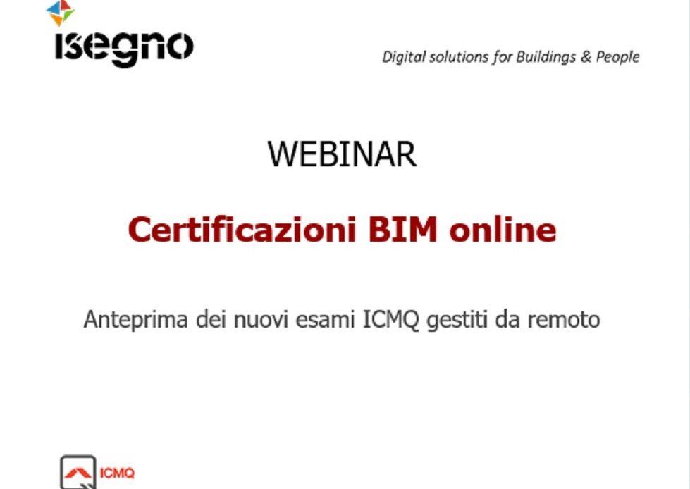 17 giugno – Webinar Isegno: Certificazioni BIM online
