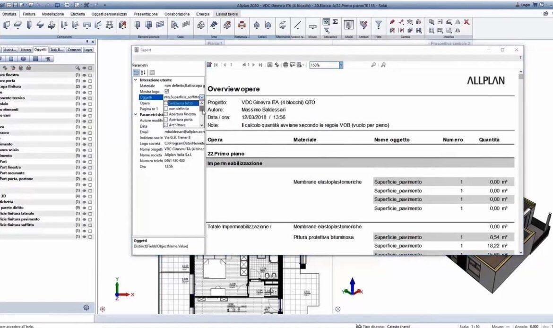 Le informazioni del modello BIM nella generazione delle distinte di computo e l'integrazione con il software di computo TeamSystem CPM