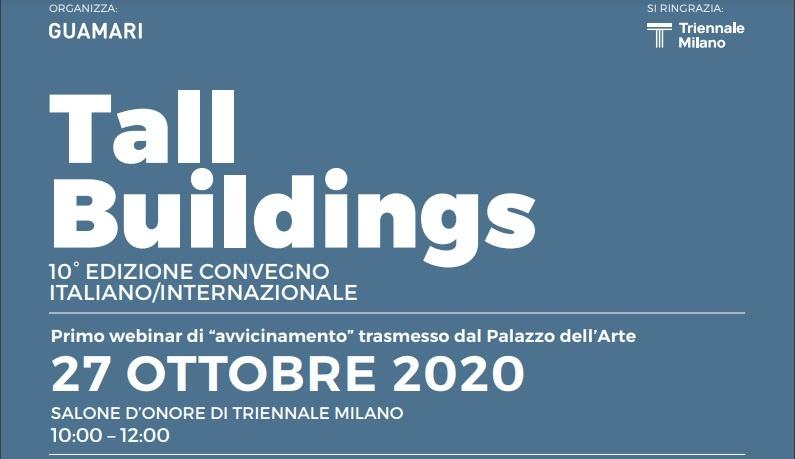 27 Ottobre – webinar 10° Convegno Internazionale Tall Buildings