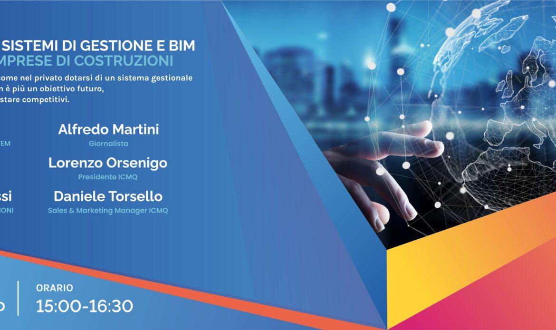 26 febbraio – Digitalizzazione, Sistemi di Gestione e BIM (SGBIM)