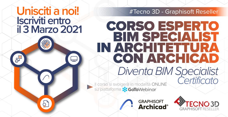 3 Marzo – Corso esperto BIM Specialist con Archicad in architettura