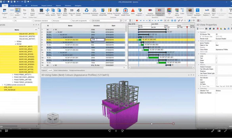 La pianificazione BIM 4D e il Virtual Design nella gestione di commessa con Synchro PRO