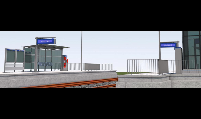 Pubblicato il modello standard creato con Allplan 2021 per la progettazione BIM delle banchine ferroviarie