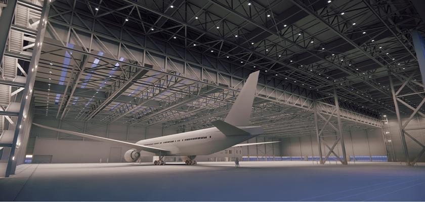 Hangar Manutenzione Boeing all'aeroporto di Gatwick