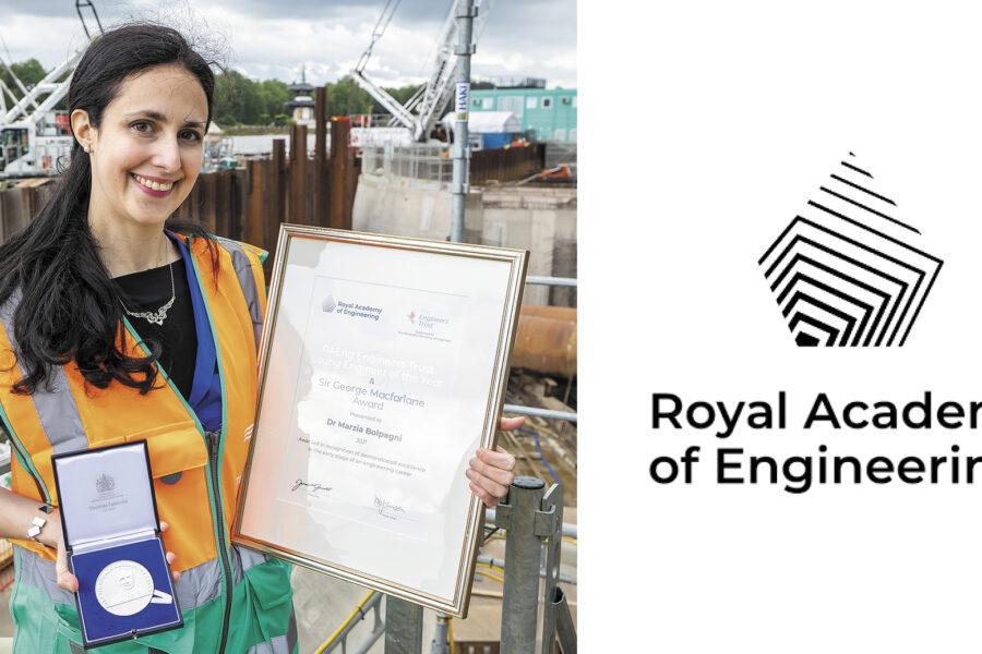 """Marzia Bolpagni premiata come """"Giovane Ingegnere dell'Anno"""" dalla Royal Academy of Engineering"""