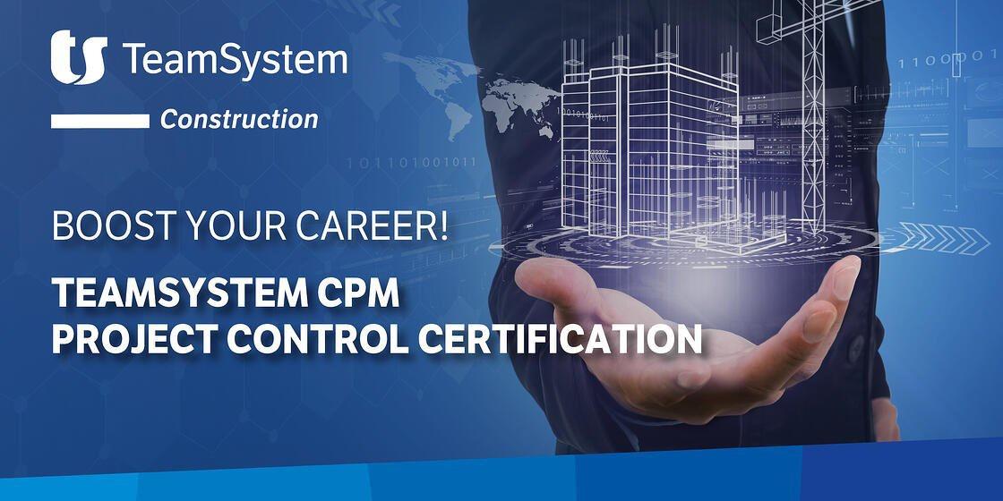 29 ottobre – Corso di certificazione all'uso di TeamSystem CPM Project Control